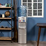 DELLA | Water Dispenser | Water Cooler | Ice Maker | Stand Up | Child Safety Lock | Hot Room Cold Temp | Home | Office | Silver