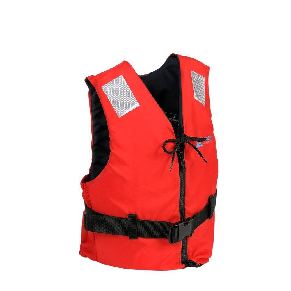 リーダーインターナショナルスポーツI浮力ベストエイド、浮力補助器具、フォーム浮力補助器具、CE EN ISO12402承認(サイズL、赤)   B015O2TPBI
