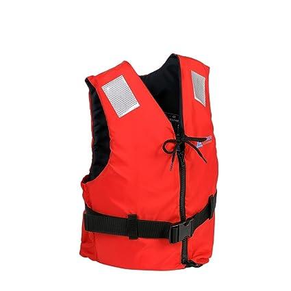 Leader Accessories Chaleco de Ayuda a la Flotabilidad Salvavidas CE ISO 12402 Ajuste Fácil Cinturón Ajustable
