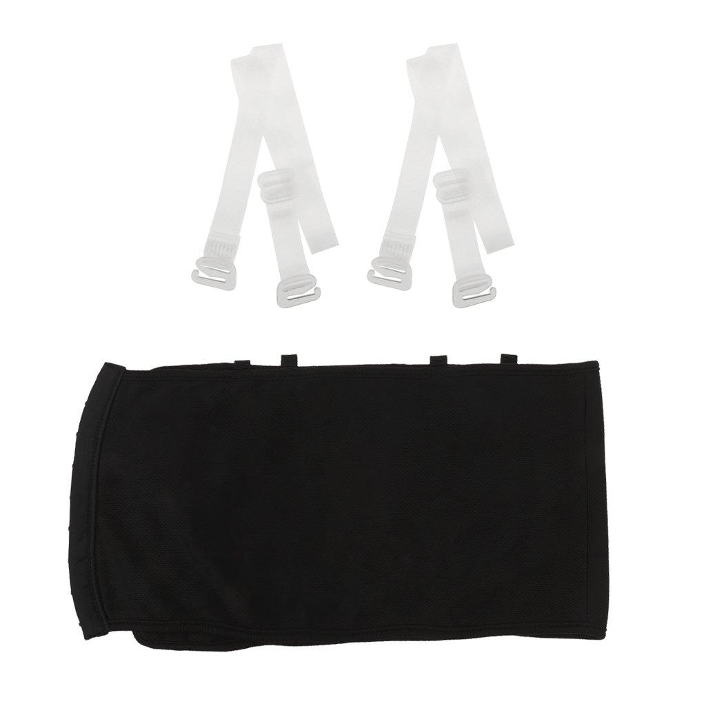 Homyl Sujetador Camisa Sin Tirantes Envoltura de Pecho Mujeres Muchachas Accesorio Top Suave - Blanco negro, SG: Amazon.es: Ropa y accesorios