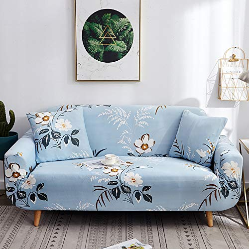 (Universal Modern Stretch Sofa Covers Elastic All-Inclusive Polyester Couch Cover Sofa Slipcovers for 1/2/3/4 Seater (Single Seat 90-140CM,E))