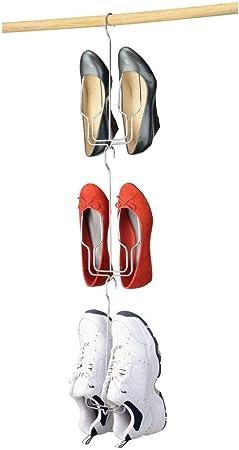 support chaussures /à suspendre mDesign Lot de 3 range chaussures chrome pratique rangement chaussure pour tous les styles de chaussures