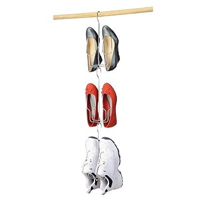 mDesign Perchas para zapatos (juego de 3) – Práctico organizador de zapatos para armario – Zapatero para armario