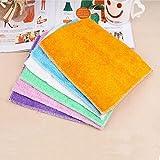 LiPing 5PCS High Efficient Anti-grease Color Dish Cloth Bamboo Dish Washing Efficient Clean Kitchen Cloths Cleaning Cloths Cleaning Antibacterial Tool