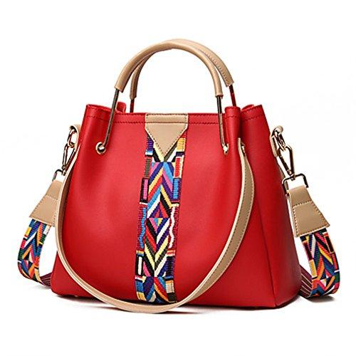 Vert Polyuréthane Shopping Rouge Sacs Militaire Cabas Poche Décontracté Saisons Femme Les Gris Red Toutes Noir Pour Tn7qa5xW1W