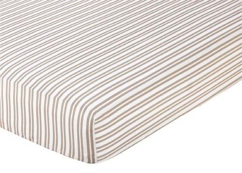 Giraffe Fitted Crib Sheet for Baby/Toddler Bedding by Sweet Jojo Designs - Stripe
