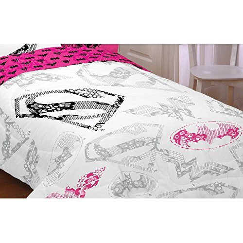 Justice League Twin/full Comforter in White Girls Design by Justice League