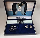 pebblez and penguinz Penguin cufflink box Emperors Kiss