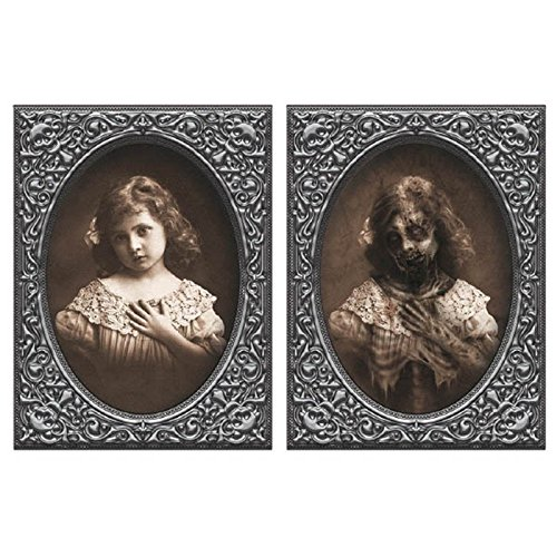 Pictures Of Halloween Decorations (Little Girl Halloween Horror Lenticular Picture Photo Decoration)