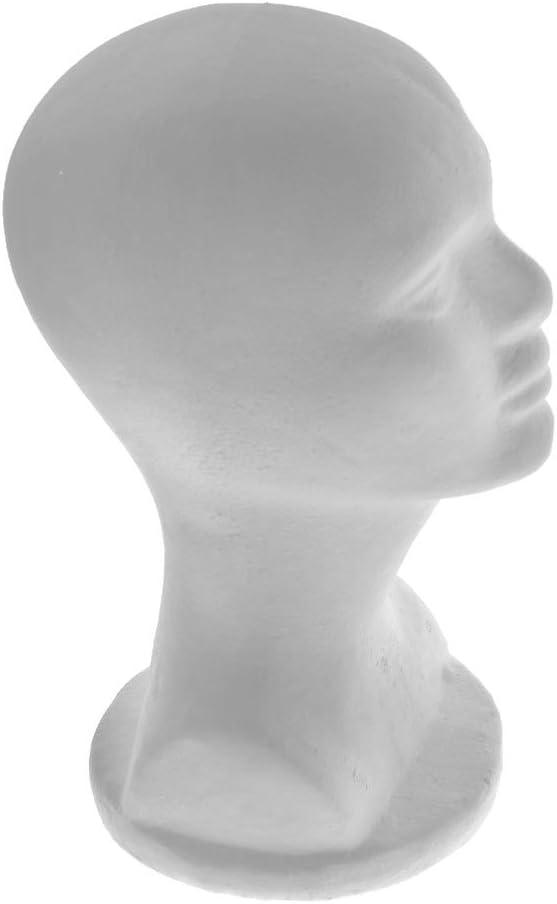 Male Polystyrene Styrofoam Model Head Mannequin Stand Wig Hair Hat Display