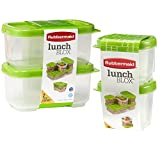 Rubbermaid LunchBlox Sauce Container 3 oz, Pack of 2, Side container 9.6 oz, Pack of 2