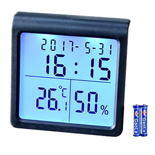 Digital Hygrometer Indoor Thermometer Humidity Gauge Temperature Humidity Monitor and Timer with Table Standing Smart Digital Thermometer Humidity Meter with LED Backlight