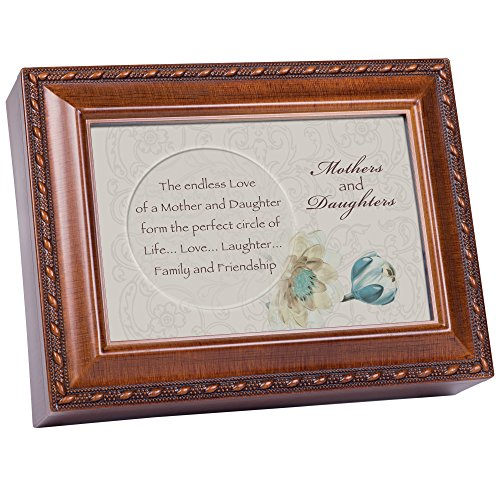 Cottage Garden Mothers & Daughters Woodgrain Traditional Music Box Plays Thats What Friends are for