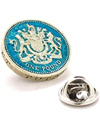 4d2be78fc8e9 British Pound Tie Tack Lapel Pin Suit Britain England Seal Crest United  Kingdom Royal Queen King