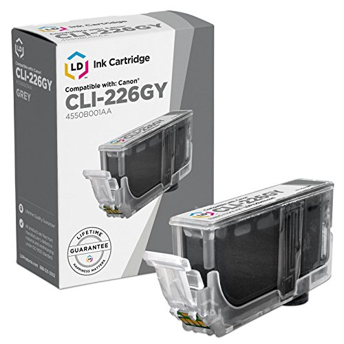 LD Compatible Replacement for Canon CLI-226GY Gray Inkjet Cartridge for use in Canon PIXMA MG6120, MG6220, MG8120, MG8120B, and MG8220 Printers