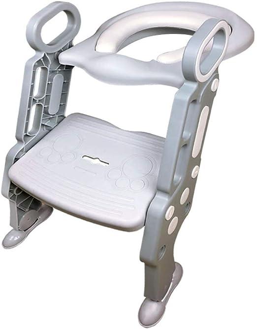 Jiamuxiangsi- Escalera para niños Aseo Entrenamiento para bebés Plegable para Inodoro Taburete Silla Auxiliar Niño Hombres y Mujeres escalonada Entrenamiento del Inodoro: Amazon.es: Hogar