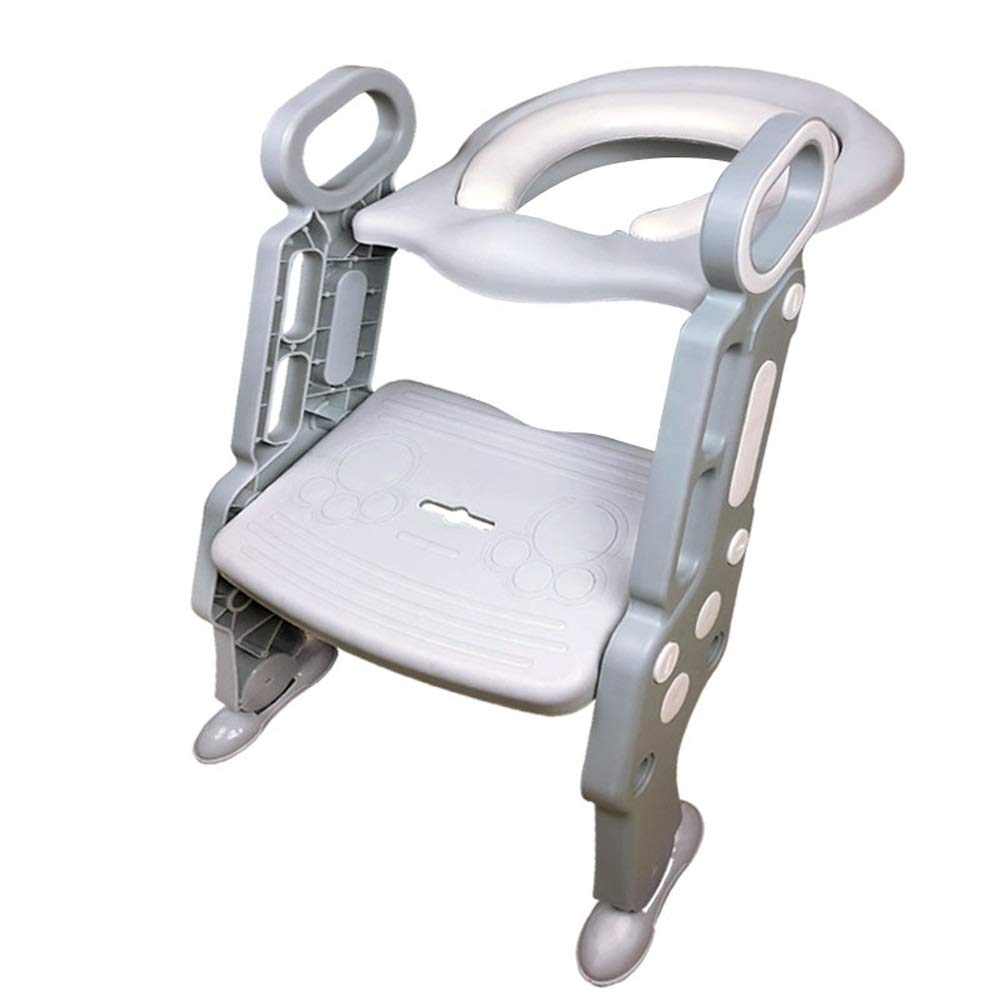 Byx- Children's Ladder Toilet Baby Training Folding Toilet Ring Stool Chair Auxiliary Child Men and Women -Toilet Seats for Toddlers