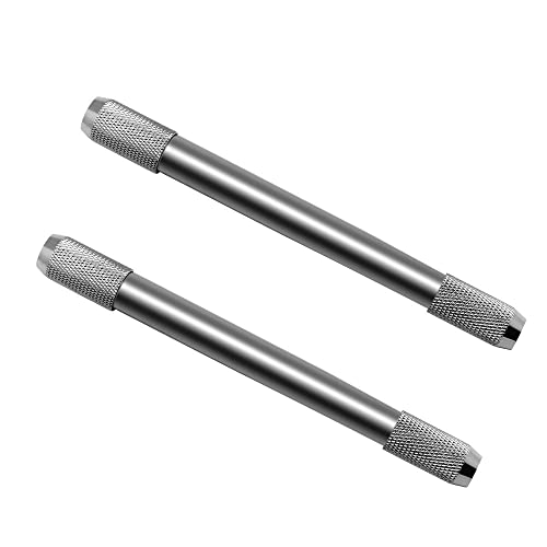 Meetory 2x Dual-Head Metal Pencil Extender Holder for School Stationery Drawing Sketching