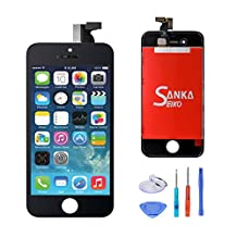 SANKA LCD Display Touch Screen Digitizer Frame Assembly Full Set Screen Replacement for iPhone 4S-Black
