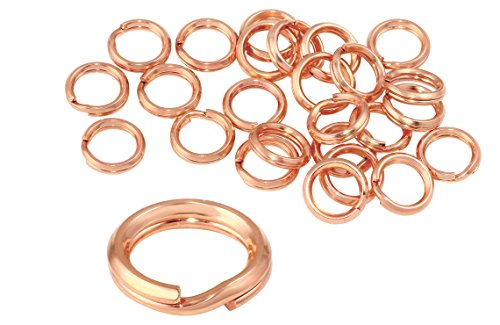 14k Gold Filled Split Rings - 25 Pcs 6 mm 14k Rose Gold Filled Split Rings