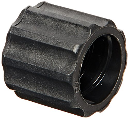 Value Plastics Rotating Male Luer Lock Ring (For use with BDMMTL), Black Nylon (Pack of 10)