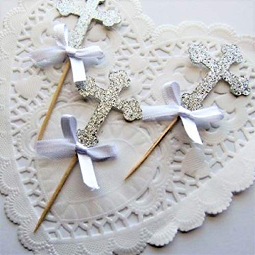 Various Cute Wedding Couples/First Communion Designs of Cupcake Toppers Set of 12 (Communion) -