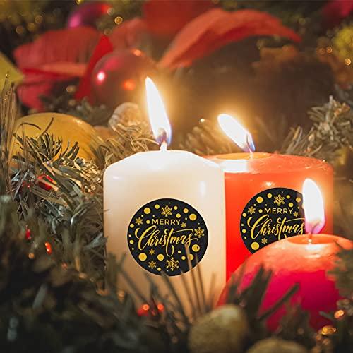 Koogel 500 pcs Christmas Present Labels, 1.5 Inch Self Adhesive Christmas Gift Tags Christmas Gift Tag Present Tags Sticker for Bookmarks Scrapbooks Gift Paper Wrappers Christmas Gift Labels