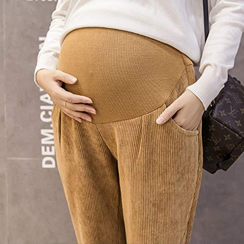 colore Sportivi Casuali Di Leggings Dimensioni Nuova Giallo Inverno Pantaloni Spesso L Gray Madre Maternità Marea Uioy 2018 75vz1qxxw