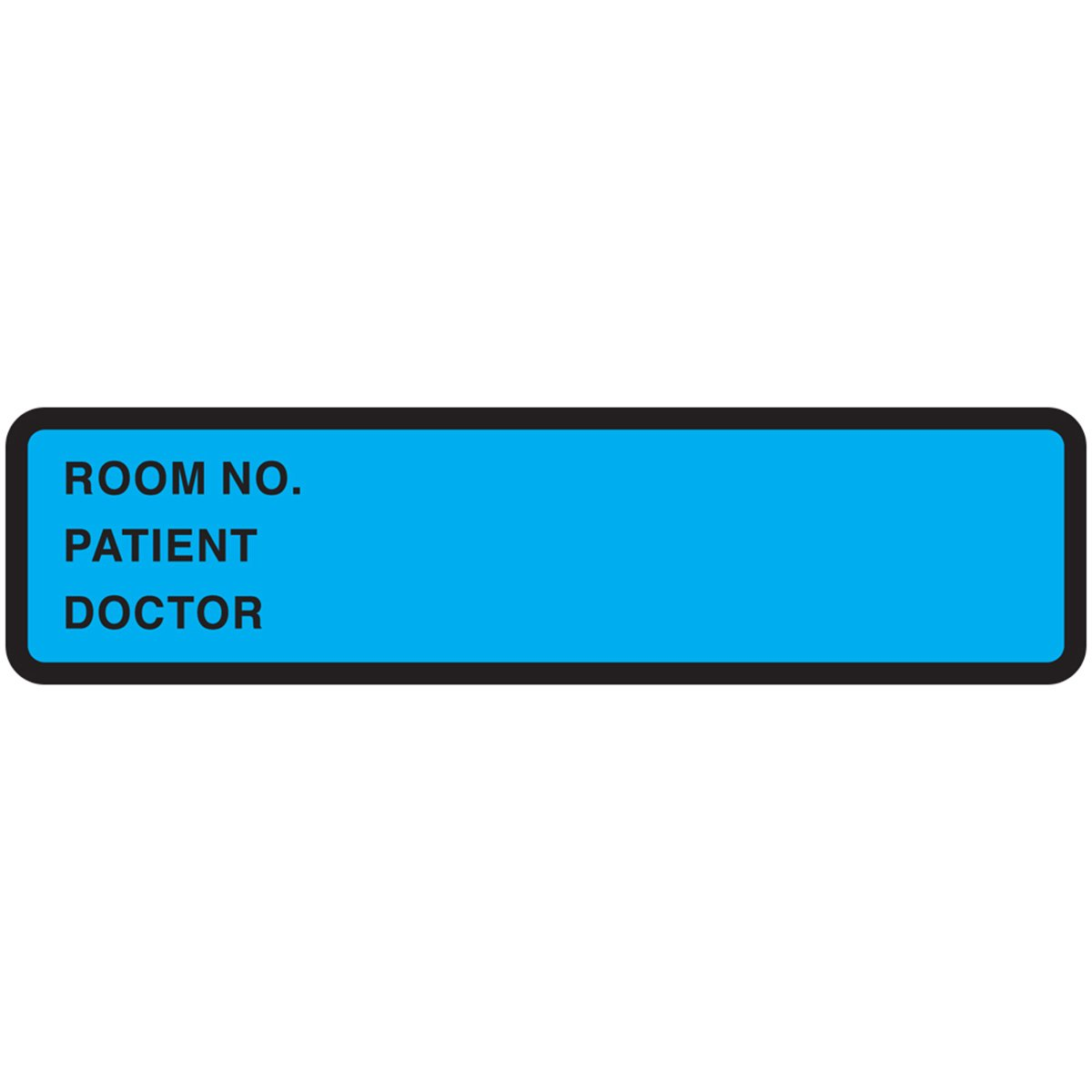 PDC Healthcare 59704843 Binder/Chart Label Paper, Removable Room No. Patient, 5 3/8 x 1 3/8, Blue (Pack of 500)