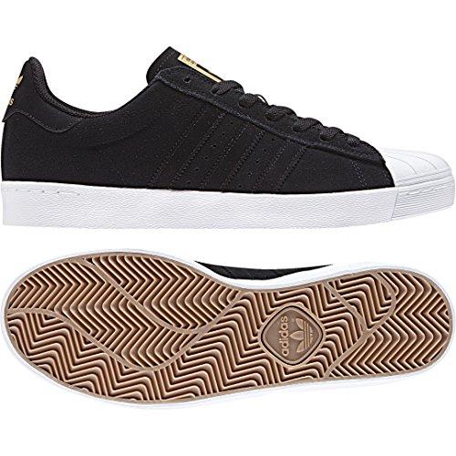 Adidas Superstar Vulc ADV–Chaussures de skateboard, homme, noir, (negbas/Ftwbla/dormet)