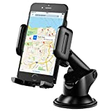 Mpow Car Phone Mount,Washable Strong Sticky Gel Pad with One-Touch Design Dashboard Car Phone Holder for iPhone 8/8Plus/7/7Plus/6s/6Plus/5S, Galaxy S5/S6/S7/S8, Google Nexus, LG, Huawei and More