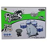 21 pcs Toy Drum Play Set/ Jazz Drum Set with Stool-Blue Color