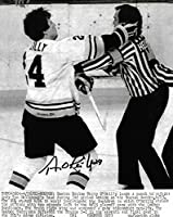 Terry O'Reilly Boston Bruins Signed Autographed Referee Punch 8x10 Photo