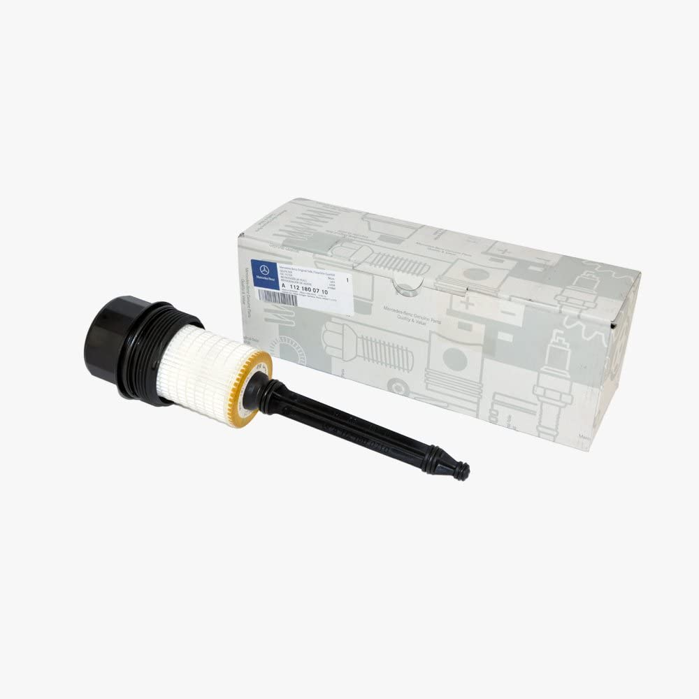 For Mercedes Genuine Oil Filter Housing Cap+Cartridge+O-Ring for Many Models