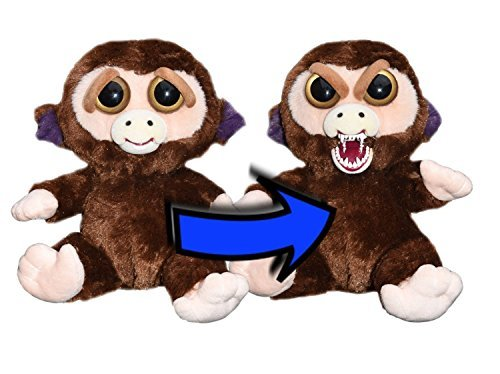 Feisty Pets Grandmaster Funk Plush Stuffed Monkey that Turns Feisty with a -