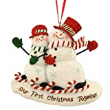 OUR FIRST CHRISTMAS TOGETHER SNOWCOUPLE ORNAMENT