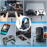 Gaming Headset with Mic for Xbox One PS4 PS5 PC