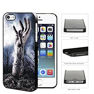 Zombie Hand Above Ground In Forest Hard Plastic Snap On Cell Phone Case Apple iPhone 5 5s