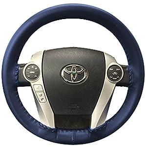 Amazon.com: Wheelskins Chevy Genuine Leather Blue Steering Wheel ...