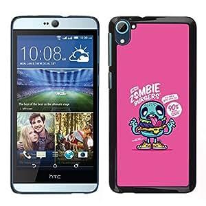 EJOY---Cubierta de la caja de protección para la piel dura ** HTC Desire D826 ** --zombi púrpura dibujo lindo aplicación del juego