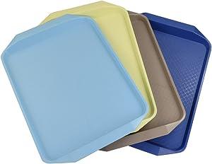 Doryh Set of 4 Color Fast Food Serving Trays