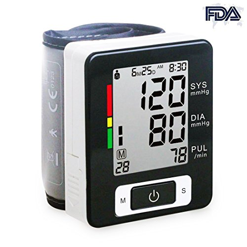 Automatic Digital Wrist Blood Pressure Heart Rate Monitor with LCD Screen (BLACK) - 9