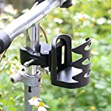 Universal Stroller Cup Holder | Fully Adjustable Attachable Drink Holder Fits All Strollers, Bike, Wheelchair, Pushchair | Sturdy Grip Adjustable Water Bottle Holder by NOUdesign