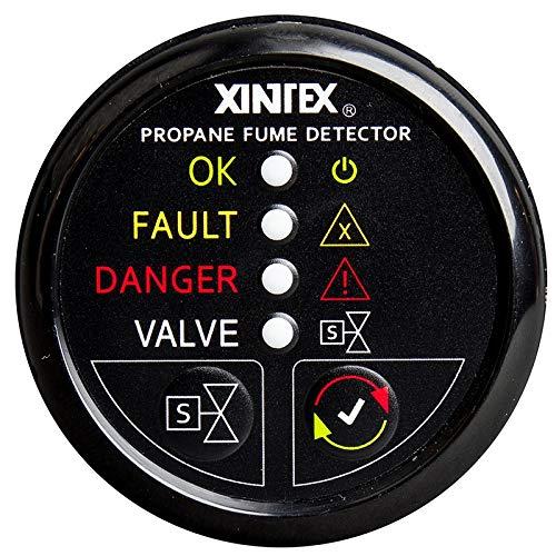 - Xintex Propane Fume Detector W/Plastic Sensor & Solenoid Valve - Black Bezel Display