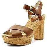 MICHAEL Michael Kors Women's Natalia Platform Sandals, Walnut, Size 5.5