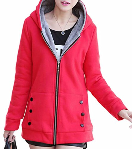 XQS Women Casual Zip Up Lined Hoodies Sweatshirt Jacket for sale  Delivered anywhere in USA