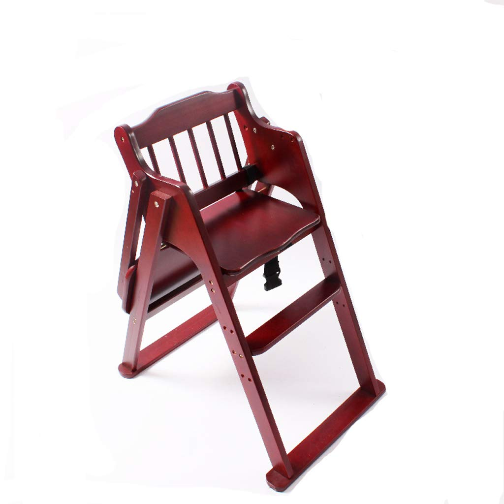 Silla alta para bebé, silla de bebé plegable de madera maciza ...