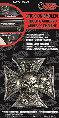 Emblem Iron Cross (Lethal Threat LT88679 Iron Cross Skull 3D Emblem)