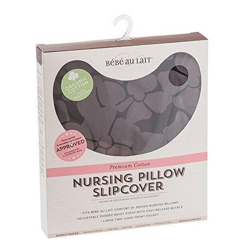 Bebe au Lait Organic Cotton Nursing Pillow Slipcover, Midnight by Bebe au Lait (Image #2)