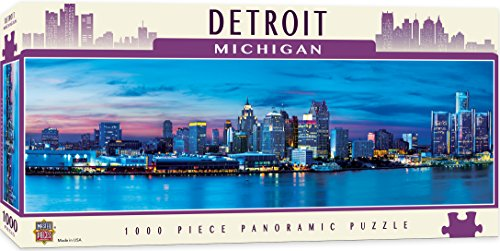 MasterPieces American Vistas Panoramic Detroit Jigsaw Puzzle, 1000-Piece